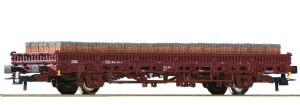 Roco 76987 DB-AG 2-axle Stake Wagon with Brick Load, Era VI